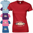 Peek-A-Boo! Ladies Fitted T-Shirt - Funny Peeking Baby Shower Pregnancy Gift Top