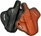 "LEATHER OWB THUMB BREAK BELT SLIDE HOLSTER for 5"" 1911 - CHOOSE MAKE & COLOR!"