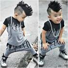 2PCS Hot Sale Toddler Baby Boys T-Shirt Tops + Pants Set Newborn Clothes Outfits