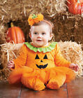 Mud Pie Baby HALLOWEEN PUMPKIN TUTU ONE-PIECE W/HEADBAND 1132158 Sizes 06M & 09M