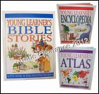 CHILDRENS Young Learner's BIBLE STORIES, ATLAS or ENCYCLOPAEDIA Book
