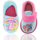Girls My Little Pony Pink Blue Slippers Shoe Boot Sizes 6-12 New
