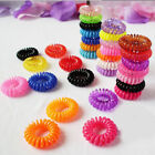 50pcs Spiral Slinky Hair Headband Elastic Bobbles Tie Scrunchies Accessory 2.7cm