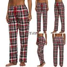 Plaid Women Drawstring Ekouaer Pajama Bottoms Casual Pants Trousers Homewear