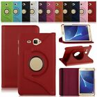 360° Rotating Folio PU Leather Smart Case Cover Stand For Samsung Galaxy J Max
