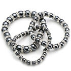 1pc Stretchy Bangle Bracelet Hematite Crystal Spacer Bead Healing Powerful Gift