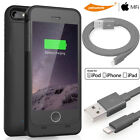 Smart Battery Case Apple MFi Certified Rechargeable iPhone 5 5S SE/Charge Cable