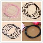 5pc Lobster Clasp 3mm Cord Rope Chain Necklace Jewelry For European Charm Bead