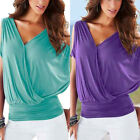 Sexy Womens Casual Shirts Short Sleeve Blouse Vest Ladies Tank Tops T-Shirt Tee