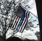 US Police Thin Blue Line Stripe Flag 3'x5' - Support Police & Law Enforcement