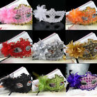 Chic Pop Eye Face Mask Feather Flower for Venetian Masquerade Halloween Costume