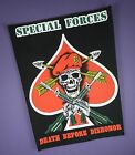 Special Forces - Death Before Dishonor - Vintage Cloth Back Patch