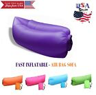 Inflatable Outdoor Lazy Couch Air Sleeping Sofa Lounger Bag Camping Beach Bed