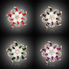 Women's Fashion Flower Pearl Brooches Diamante Pin Brooch Wedding Bridal Jewelry