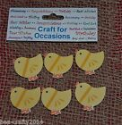 PACK OF 6 CUTE YELLOW EASTER CHICK EMBELLISHMENTS/CARD TOPPERS #CRAFT