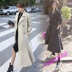 Elegant Womens Casual Long Sleeve Double Breasted Ballgown Trench Coat Thin New