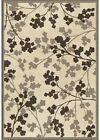 Orian Gray Transitional Synthetics Petals Branches Leaves Area Rug Floral 3406
