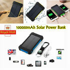 New Solar Power Bank 100000mah Portable External Battery Charger For Mobile