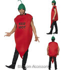 CL974 Adult Unisex Chilli Pepper Mens Red Hot Vindaloo Mexican Fancy Costume