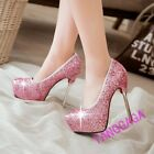 Ladies Sexy Clubwear Paillette Sequins Mary Janes Stiletto High Heel Party Shoes