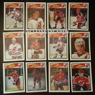 1988-89 OPC NEW JERSEY DEVILS Select from LIST NHL HOCKEY CARDS O-PEE-CHEE