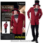 CL979 Mens Victorian Dandy Willy Wonka Mad Hatter Fancy Dress Halloween Costume