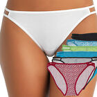 Pack of 6 Ladies Cotton String Bikini Briefs Sexy Lingerie Panties for Women