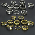 10Pcs Wholesale Retro Silver/Gold Arrow Moon Mid Finger Knuckle Rings Jewelry