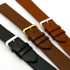 Comfortable Flexible Leather Watch Band Buffalo grain 16mm - 22mm 3 Colours