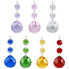 5Pcs Christmas Tree Ornament Crystal Ball Holiday Hanging Decoration Bauble Gift