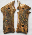 RUGER MKII & MKIII GRIPS WITH EAGLE WINGS SPALTED BRAZILIAN CHERRY R-4 NICE!!!