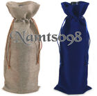 5 x Wine Bottle Gift Bags Tote Cover Pouch/Wedding Party Thanks Shower X'mas
