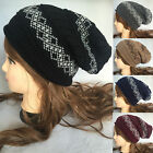 New Women men Knit Slouchy Beanie Oversized Thick Cap Hat Unisex Slouch Color