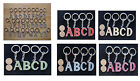 Letter Alphabet Initial Name Key Chain ( White Green Red Yellow Blue Magenta )