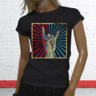 ROCK ON VINTAGE FOREVER ROLL DISTRESS PARTY Womens Black T-Shirt
