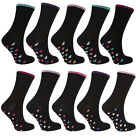 Cottonique Ladies 5 Pack Cotton Rich Socks Black 4-8