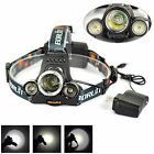 Pêche BORUiT 13000Lm XML T6 3 LED Lampe Frontale HeadLight Flashlight Lamp 18650