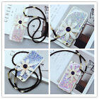 Fashion Bling Silicone glitter Daisy lanyard Case Cover For Iphone 6 6s 6/6sPlus