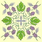 Anemone Quilt Squares #5 Singles-DESIGN 1-Machine Embroidery Design in 4 sizes