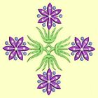 Anemone Quilt Squares #7 Singles-DESIGN 7-Machine Embroidery Design in 4 sizes