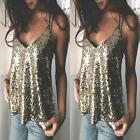 Women Sexy Sequins Summer Fashion Top Party Nightclub Vest Strappy Shirt Blouse