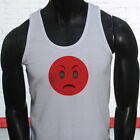 Always Angry Face Emoji Funny  Txt Sms Whatsapp Mens White Tank Top