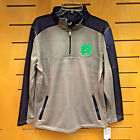 Notre Dame Fighting Irish Charged Performance 1/4 Zip Pullover Gray/Navy Blue