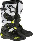 Alpinestars Tech 10 Offroad Motocross Boots Black/White/Yellow Mens