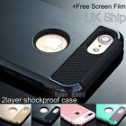 For iPhone 7 plus Silicone Rubber Hard Shockproof Hybrid Cover Case Hard impact