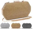 NEW LADIES FASHION HARD CASE EVENING DIAMANTE OCCASION CLUTCH BAG