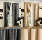 SUPER THICK BALMORAL PENCIL PLEAT CHENILLE LINED CURTAIN - THERMAL INTERLINING