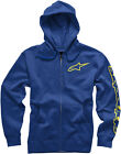 Alpinestars 2017 Tracer Zip-Up Fleece Hoodie Jacket Navy Mens All Sizes