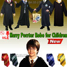 Children Harry Potter Costume Gryffindor/Slytherin/Ravenclaw Robe Cloak +Tie Set