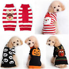 Pet Christmas Sweater Striped Dog Clothes Puppy Sweater Clothing for Dogs & Cats